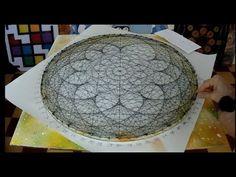 string art lotus flower by jorge de la tierra - YouTube