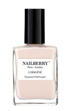 The Vogue Edit. Pastel Nails. Nailberry. Oxygenated light beige nail varnish. L'Oxygéné is a breathable and 5 Free of chemicals nail polish. In other words it means the natural physiology of your nails is respected as water and air pass through.