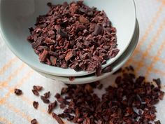 Cocoa Nibs - chocolate before the sugar, they are good for you and an easy addition to your food