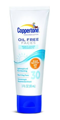 Coppertone Oil Free Faces SPF 30 3 Fluid Ounce -- Continue to the product at the image link. (Note:Amazon affiliate link) #FacialSkinCareProducts