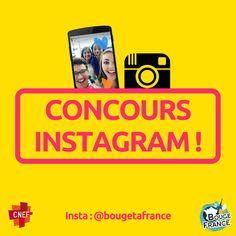 """[CONCOURS INSTAGRAM 📸  / 🎬 ] Bouge Ta France est enfin sur Instagram et pour fêter ça nous t'avons préparé un super concours ! https://www.instagram.com/bougetafrance/  1) PARTICIPE ! Exprime tes talents ! Réponds à la question """"Comment bouger la France ?"""" par photo ou par vidéo ! Poste ta création sur Instagram en taguant @bougetafrance dans la description ;) À toi de faire parler ta créativité ! Tu es libre de t'exprimer de la manière que tu préfères (photo, image, dessin, montage…"""