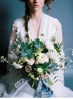 Edwardian wedding style inspiration, with Verona Lain and Joanne Fleming Ranunculus Bouquet, Pastel Bouquet, Floral Bouquets, Greenery Bouquets, Bouquet Bride, Wedding Bouquets, Wedding Flowers, Wedding Dress, Wedding Honeymoons