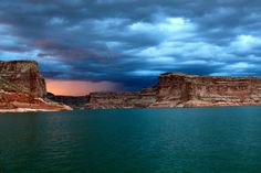 [OC] Lake Powell AZ. Just before a storm [5184  3456]