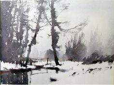 Edward Seago #landscape #tree #art