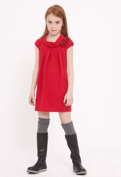 Ermanno Scervino - Junior Fw '12, Catalogue, Collection <---love the lines of this, the cowl and the pleats.