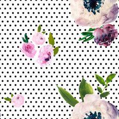 Dark  Beauty - Black Polka Dots fabric by shopcabin on Spoonflower - custom fabric
