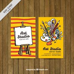 Discover the best free resources of Artist Business Card Business Cards Layout, Business Card Design, Pamphlet Design, Visiting Card Design, Name Card Design, Studio Cards, Bussiness Card, Art Logo, Graphic Design Inspiration