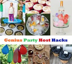 Check out these genius party host hacks that will have you kicking back with a glass of wine and enjoying the party. There's no need to spend all day in the kitchen or running around serving food and drinks. With a little bit of preparation, guests can look after themselves and you can kick back and enjoy the party.