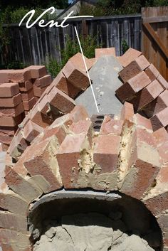 Pizza oven How to build your own forno - brick pizza oven The Tipsy Terrier blog #pizzaoven