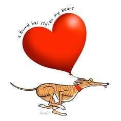 Stolen Heart - brindle hound by RichSkipworth