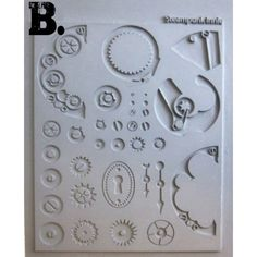PACK x2 Steampunk Gummi Texturplatten Outtie & Innie - flexible Stempelplatte