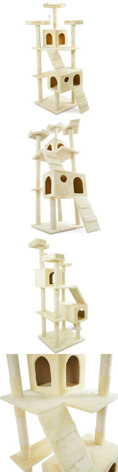 Animals Cats: 72 Cat Tree Scratcher Tower Kitten Condo Scratching Post Kitty Pet Play House -> BUY IT NOW ONLY: $55.99 on eBay!