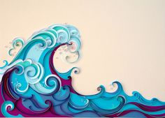 Quilled Waves by all things paper, via Flickr