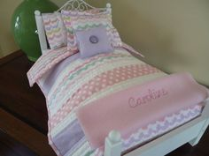 American Girl or 18 inch doll 6 Piece Quilt by Greenerbeginnings
