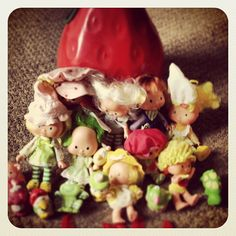Did you play with these growing up? Who are these little characters? Retro Toys, Kids Toys, Characters, Play, Breakfast, Desserts, Food, Childhood Toys, Morning Coffee