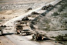 operation desert storm | ... road in the Euphrates River Valley during Operation Desert Storm