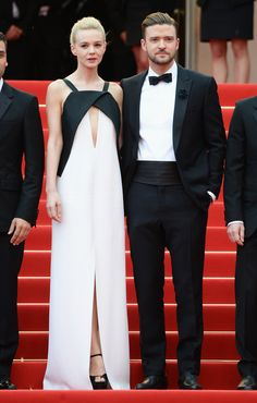2013 CANNES FILM FESTIVAL |   Justin Timberlake in Balenciaga attends the Premiere of Inside Llewyn Davis with Carey Mulligan during the 66th Annual Cannes Film Festival at Palais des Festivals on May 19, 2013 in Cannes, France.    Visit www.balenciaga.com. i die. love both of them so much.
