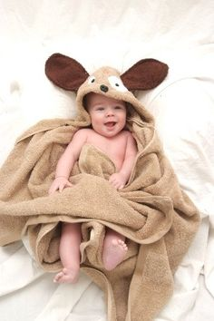 INFANT dog hooded towel by Yikestwins on Etsy, $37.00
