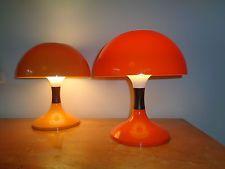 Pair Of Bent Karlby Vintage Desk Lamps Model Karina Mid Century Danish Space Age