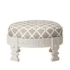 Chakki (cross btwn stool and ottoman), $450 at Serena & Lily. pick finish and fabric