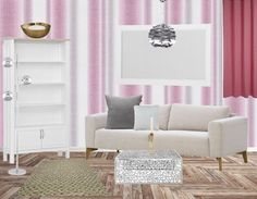 Maak jouw roze woonkamer compleet met mooie witte meubels. Dit zorgt voor een fris geheel.