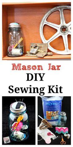 Mason Jar Sewing Kit -