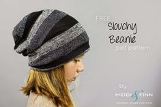 Slouchy Beanie hat - FREE pattern for kids clothes week (HeidiandFinn modern…