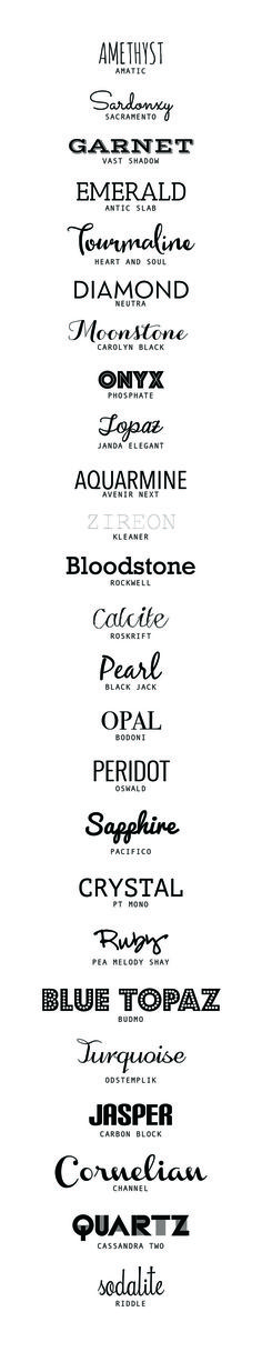 25 of the best Free Fonts | http://desireedreszer.com