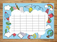 Ωρολόγια προγράμματα μαθημάτων - Ψηφιακή Τάξη Classroom Rules, Classroom Decor, Rainbow Bulletin Boards, Aqua Rooms, Timetable Template, School Border, School Timetable, Happy Birthday Wishes Cards, Birthday Charts