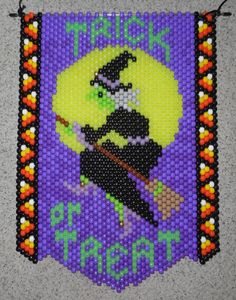 Trick or Treat bruja Halloween banners cuentas con la suspensión del cable de Nylon