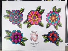 Mandala tattoo flash by NoSalvation on Etsy, $15.00