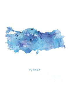#Turkey #mapofTurkey #watercolor #Turkeymap #painting #abstract #illustration #design #ankara #officedecor #states #country #emblem #homedecor #art #artwork #national
