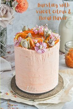A fresh and fluffy orange blossom cake bursting with sweet floral flavor and paired with the most delicious whipped cream cheese buttercream frosting. Perfect for any spring or summer celebration.