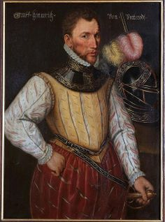 """12de Heer van Brederode. """"Graff Hennerich von Brederodt"""" (1531-1568), omgeving Antoni Mor. Copyright Schloss Braunfels."""