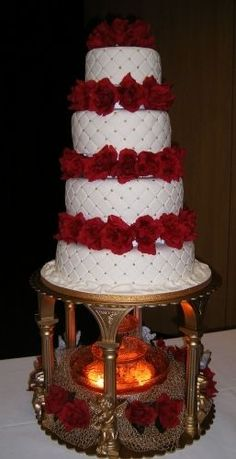wedding cakes with fountains | Wedding cake with stairs-fountains ...