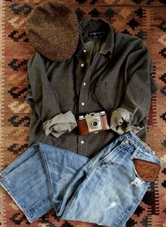 Vintage Gray Corduroy buttondown Shirt All American Classic Ralph Lauren Polo Pony Logo Lumberjack Outdoorsman Size Medium #1 by thejadedorris on Etsy