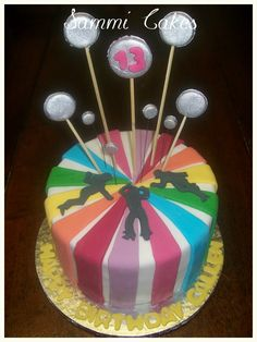 13th Disco Themed Party    -Choc cake with Cookies & Cream filling