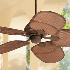 52 Casa Vieja Rattan Outdoor Ceiling Fan