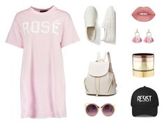 """Resist My Rose"" by smileforsierra ❤ liked on Polyvore featuring Boohoo, Gap, Erdem, SUGARFIX by BaubleBar, Gemma Redux, tshirtdresses and 60secondstyle"