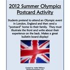 A fun activity to get students writing about the upcoming Summer Olympics in London.  Students pretend to attend the games (as a spectator, athlete...