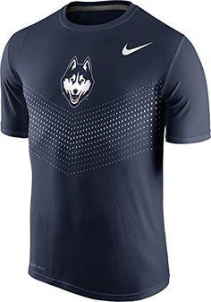 Nike Uconn Connecticut Huskies Men's College Legend Sideline Dri-fit T-shirt In Navy Blue Dri Fit T Shirts, Team Shirts, Sports Shirts, Uconn Apparel, Connecticut, Estilo Fitness, Camisa Polo, Nike Outfits, Shirt Price