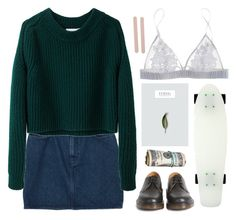 """""""JUST GIRLS"""" by an0therparad1se ❤ liked on Polyvore featuring Monki, 3.1 Phillip Lim, Dr. Martens, Fleur of England, Roxy, Muji, women's clothing, women, female and woman"""