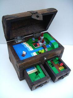 LEGO Minibuild in a trunk #lego #legocastle #castle #minibuild #trunk #toy #toys #legoset