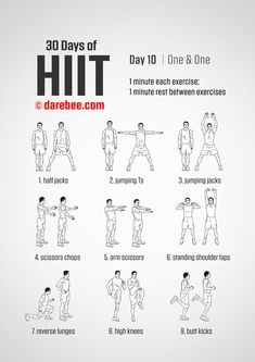 HIIT It Hard & Burning Fat, Building Muscle, And Getting In Great Shape. hiit workouts & hiit workouts at home & hiit workouts fat burning& The post 30 Days of HIIT Workout appeared first on Shane Carlson Fitness. Hiit At Home, Hiit Workout At Home, At Home Workouts, Workout Men, Workout Days, Workout Fitness, Hiit Workouts Fat Burning, Hiit Workouts For Beginners, Workouts Hiit