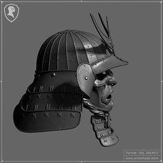 Samurai Helmet, Samurai Armor, Womens Motorcycle Helmets, Motorcycle Girls, Ducati Monster Custom, Oni Mask, Ancient Armor, Japanese Warrior, 3d Mesh