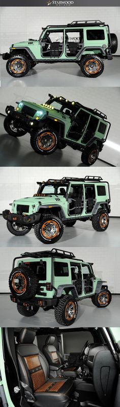 Starwood Motors Custom Jeep Mint Green #starwoodmotors #Jeep #JeepWrangler #CustomJeep #JeepLife #JeepMods
