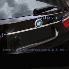 FOR BMW X3 F25 E83 2011-2017 1pcs CHROME Rear Trunk Boot Lid Trim Cover