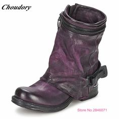 (143.54$)  Buy here - http://ai2p8.worlditems.win/all/product.php?id=1000003751053 - Choudory High end Designers Shoes Vintage Style Motorcycle Boot Fashion Pleated Genuine Leather Cowboy Boot bottines femmes 2017