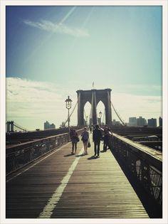 Walking Brooklyn Bridge New York City #newyork, #NYC, #pinsland, https://apps.facebook.com/yangutu