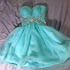 Light blue short prom dress!!BIG SALE TODAY!!! Short light blue prom dress. Only worn once! Size:2. In amazing condition! Dresses Strapless